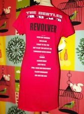 THE BEATLES TUNIQUE ROBE REVOLVER BIFACE CERISE  TL OU 38 /42