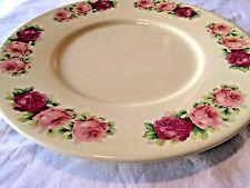 VTG ESTE CE ITALY Ceramic Large Plate / Cake Platter Round Rose Floral Bridal