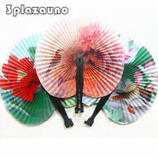 Chinese Oriental Hand Held Folding Paper Fans Wedding Favours Gifts Favor Uno