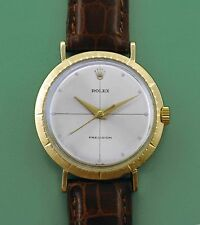"Vintage 1950's 18k Gold Rolex ""Zephyr"" Men's Wrist Watch Reference 9919"