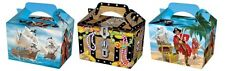 10 Pirate Party Boxes - Food Loot Lunch Cardboard Gift Kids Chest