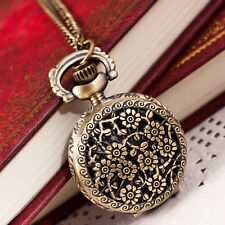 Fashion Retro Men Women Quartz Watch Pocket Watches Pendant Chain Necklace
