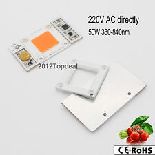 AC 220V High Power 50W led chip built-in driver 380NM-840NM Full Spectrum LED