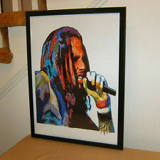 Zack de la Rocha, Rage Against the Machine, Vocals Rap Metal 18x24 POSTER w/COA