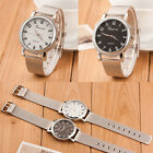 New! Classic Silver Stainless Steel Geneva Quartz Steel Wrist Watches Womens HOT
