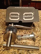 Omnia 32D Brushed Stainless Steel Passage Lever Door Handle, Retails $119