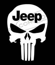 Punisher VINYL STICKER DECAL JEEP WRANGLER RENEGADE TJ JK CJ YJ RUBICON