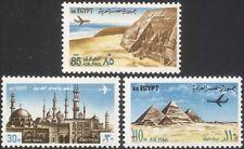 Egypt 1972 Tourism/Planes/Pyramids/Abu Simbel/Mosque/Church/Buildings 3v  n29468