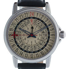 Travelers/Pilots 24-hour GMT watch with 24 time zones and IATA airport codes