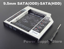 2nd SATA HDD/SSD Hard Drive Caddy for Asus A555 F555 K555 X555 9.5mm Adapter