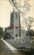REAL PHOTOGRAPHIC POSTCARD OF CHIPPING WARDEN CHURCH,  NORTHAMPTONSHIRE