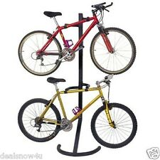 Pro Two Bike Gravity Freestanding Bicycle Stand Rack Garage Home Apt Space Saver