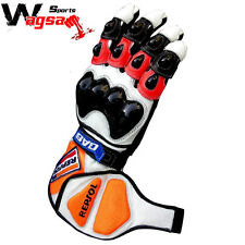 Honda Repsol Motorbike Leather Gloves Racing Suits Racing Gloves Size S,M,L,XL