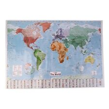 New 97.5 X 67.5 Large World Map English French Wall Chart Teaching Poster SY