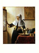"""1981 Vintage VERMEER """"YOUNG WOMAN WITH A WATER JUG"""" COLOR offset Lithograph"""