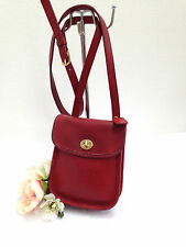 VINTAGE COACH SIDEPACK IN RED LEATHER, CROSSBODY - STYLE 9978 MADE IN USA - GUC