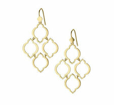 Gold Fashion Plated Stella Arabesque Dot Chandelier Drop Earrings EH0833