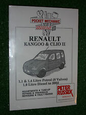 RENAULT KANGOO & CLIO II WORKSHOP MANUAL 8V PETROL  1998 +F8Q F9Q DIESEL  2002
