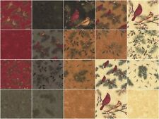 "Cardinal Reflection Flannels Moda 42 5"" Charm Pack Cotton Holly Taylor 6640PPF"