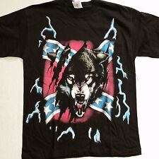 Brazo's Sportswear, Rebel Wolf Adult T-Shirt (X-Large) #2-1 New