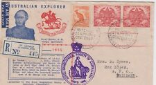 Stamp Royal Geographical Society Queensland Mitchell St George cover registered