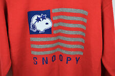 Vintage Peanuts Snoopy Flag Sweater Womens Knit Red Stars Stripes Large