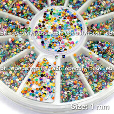 1 mm Round Spangles Glitter Multicolor DIY Nail Art Decorations #EB-099