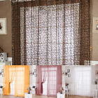 Room Tulle Door Window Curtain Balcony Floral Drape Panel Sheer Scarfs Valances