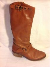 Pied A Terre Brown Mid Calf Leather Boots Size 36