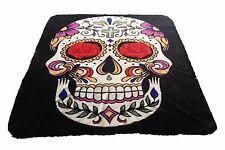 Brand New Sugar Skull print Queen size Luxury blanket
