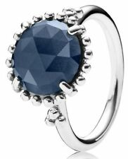 NEW Authentic Pandora Silver Midnight Star Blue Crystal Ring Sz 7 190910NBC-54