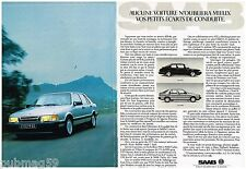 Publicité Advertising 1988 (2 pages) SAAB 90 et 9000 Turbo