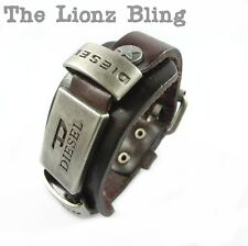 Urban Vintage style Genuine Brown Leather Band DIESEL Bracelet