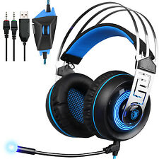 SADES A7 7.1 Virtual Sound USB Gaming Headset with MIC LED Linght Sound CardChip