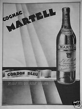 PUBLICITÉ 1932 COGNAC MARTELL CORDON BLEU - ADVERTISING