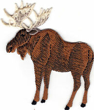 MOOSE w/ANTLERS -  IRON ON EMBROIDERED PATCH - ANIMALS - FOREST - HUNTING