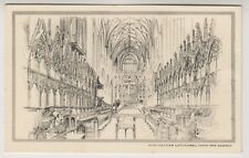 Hampshire postcard - Winchester Cathedral, Choir & Screen (Sketch)
