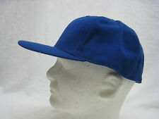 VINTAGE ROYAL BLUE HAT BALL CAP FITTED LARGE 7 1/2 DEADSTOCK WOOL BLEND (#U-2)