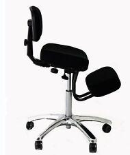 Sgabello posturale cromato bacino poggiaginocchia sedia ergonomica poltrona