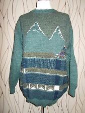 Herrenpullover grau Gr. 48 50 Getragen Pullover Pulli Berge Bergsteiger Winter