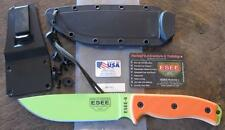 NEW ESEE Knives 6P-VG 6PVG VENOM GREEN Fixed Blade Knife w/ Orange G-10 Scales
