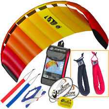 HQ Symphony Beach III 2.2 Kite Mango Foil Power Stunt + Plus Padded Wrist Straps
