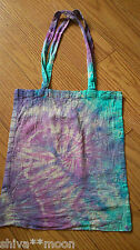 TIE DYE HIPPY ECOLOGICAL TOTE SHOPPER SHOULDER BAG COTTON BOHO 2403F