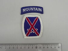 (A6-BN28) USA Abzeichen 10th Division Mountain