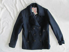Levi's Double Breasted Peacoat Coat-Wool Blend-Navy Blue-Women's Small-NWT  $198