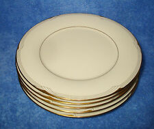 "Noritake, Golden Cove (7719, '86-'99) - Set Of Five 10½"" Dinner Plates (VG+)"