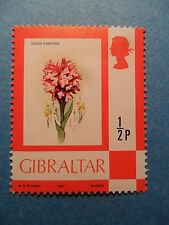Gibraltar. QE2 1982 ½p Definitive. SG374a. Toothed Orchid. Mint Never Hinged.