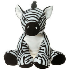 "7.5"" Zebra Teddy Bear Doll White Black Ultra Plush Bear Toy Bean Bag Fill NEW"