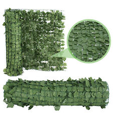 "39""H Artificial Faux Ivy Leaf Privacy Fence Screen Décor Panels Outdoor Hedge X2"