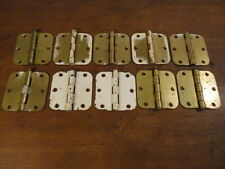 """Set of (10) Brass Heavy Duty Architectural 3.5"""" Butt Hinges"""